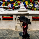 Nepal - Walking around stupa